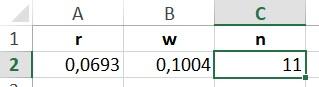 Ergebnis in Excel