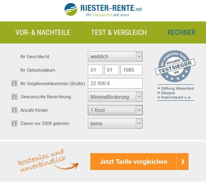 Riester-Rechner