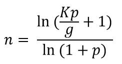 komplizierte Formel mit Logarithmen