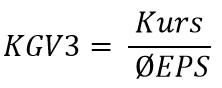 KGV3 = Kurs : Durchschnitts-EPS